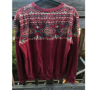 Patterned Crewneck Sweater!